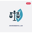 two color environmental law icon from law vector image vector image