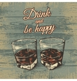 Two glasses of alcohol vector image
