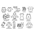 types of clothes icons vector image vector image