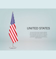 united states hanging flag on stand template vector image vector image