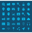 Website Development Glyphs Icons vector image vector image