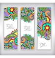 set of decorative flower template banner card web vector image