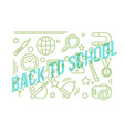 School linear icon Education design Back to vector image