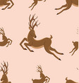 seamless pattern with leaping deers vintage vector image