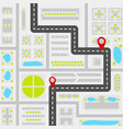 abstract city map concept vector image vector image