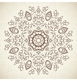 Abstract ornamental round floral lace pattern on vector image
