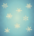Aged card with snowflakes vector image vector image