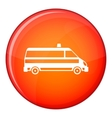 Ambulance car icon flat style vector image vector image