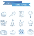 Art element New Year icons vector image