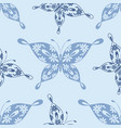 beautiful seamless pattern with butterflies vector image vector image