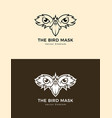 bird mask icon eagle eyes emblem vector image