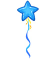 Blue balloon in star shape vector image vector image