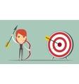 Business woman shooting target vector image