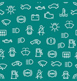 car dashboard signs thin line seamless pattern vector image vector image
