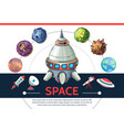 cartoon colorful space template vector image