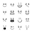cartoon emoticons or facial emotions collection vector image
