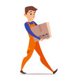 character of home mover worker vector image vector image