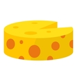 Cheese icon cartoon style vector image