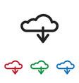 cloud computing icon vector image vector image