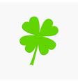 Clover leaf Four petal green clover Flat design vector image
