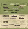 coffee wallpaper green brown vector image vector image