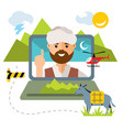 concept afghanistan flat style colorful vector image vector image