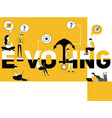 creative word concept e-voting and people doing vector image vector image