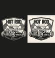 custom car vintage label vector image