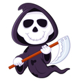Cute cartoon grim reaper vector image