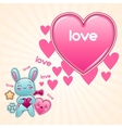 Cute child background with kawaii doodles vector image vector image