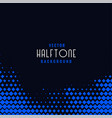 dark background with blue geometric halftone vector image vector image