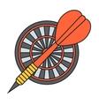 Darts target icon vector image vector image