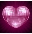 Disco Heart Purple mirror disco ball