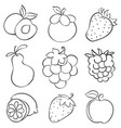 doodle of fruit design hand draw vector image vector image