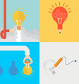 Element of idea concept icon in flat design vector image vector image