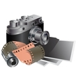 Film camera film pictures vector image