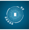 flat technology background vector image vector image