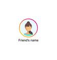 follower notification social media icon vector image vector image