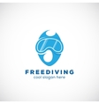 Freediving Abstract Scuba Diving Sign vector image