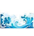 giant ocean waves background vector image vector image
