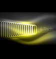 glowing ellipses dark background waves and swirl vector image vector image