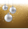 golden christmas banner vector image vector image