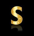 golden letter s shiny symbol vector image vector image