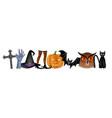 halloween written banner background vector image vector image