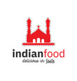 indian food logo design inspiration in red color vector image vector image