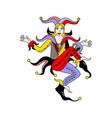 joker card woman vector image vector image