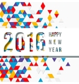 label for the new 2016 to cut through paper vector image vector image