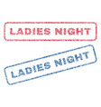ladies night textile stamps vector image vector image