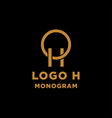 luxury initial h logo design icon element isolated vector image