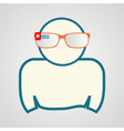 man with smart glasses vector image